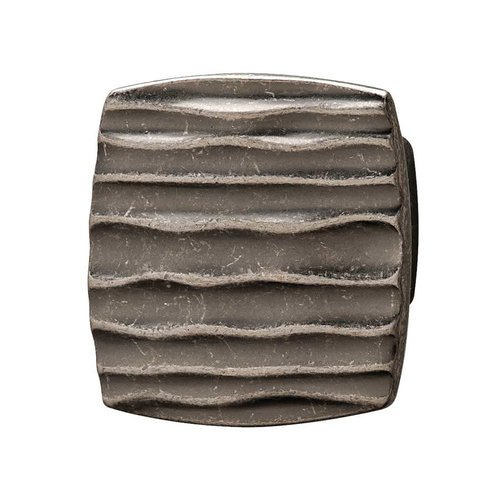 Strata 1-5/8 Inch Diameter Antique Pewter Cabinet Knob <small>(#136.81.910)</small>
