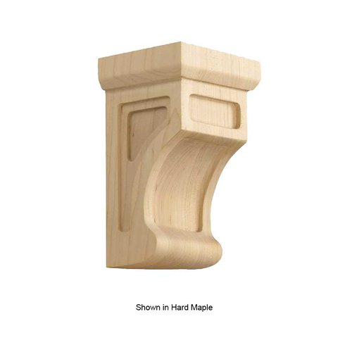 Brown Wood Small Shaker Corbel Unfinished Quarter Sawn Red Oak 01606002QS1