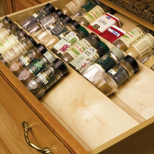 "Omega National Products Spice Drawer Insert 10""W Birch S9510DNL1"