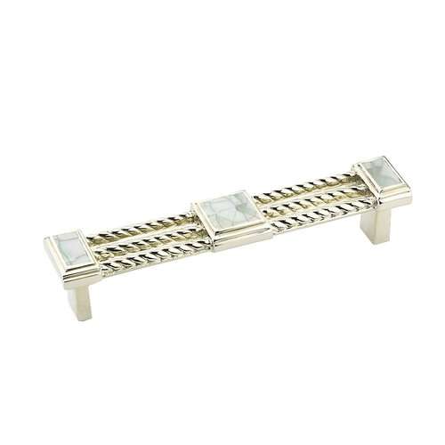 Schaub and Company Interlude 4-1/2 Inch Center to Center Mother of Pearl, Polished Nickel Cabinet Pull 621-MOP/PN