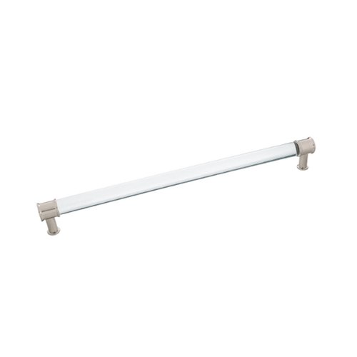 Hickory Hardware Midway Pull 12 inch Center to Center Crysacrylic with Satin Nickel P3711-CASN
