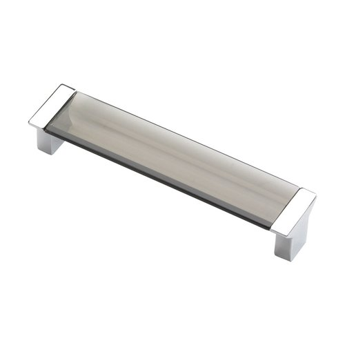 Schaub and Company Positano 5-1/16 Inch Center to Center Chrome/Smoke Cabinet Pull 316-26SM