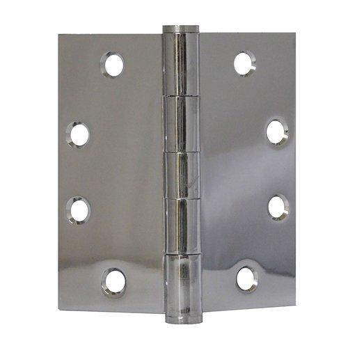 Don-Jo Full Mort. Plain Bearing Hinge 4-1/2 inch x 4-1/2 inch Bright Chrome PB74545-651