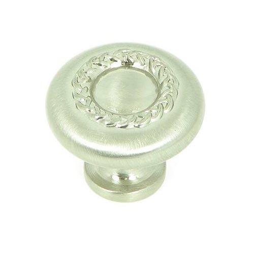 Stone Mill Hardware Palermo 1-1/4 Inch Diameter Satin Nickel Cabinet Knob CP3027-SN