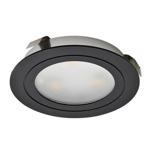 Hafele Loox 350mA Recess Mount LED Warm White Black Finish 833.78.142