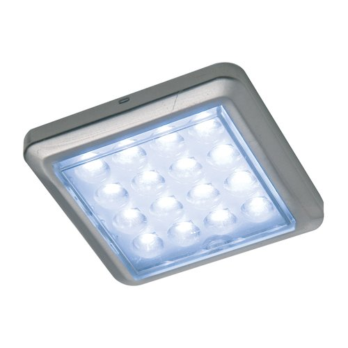 Hafele Luminoso 12V LED Surface Mount Square Spot Brushed Steel/Coo 830.64.940