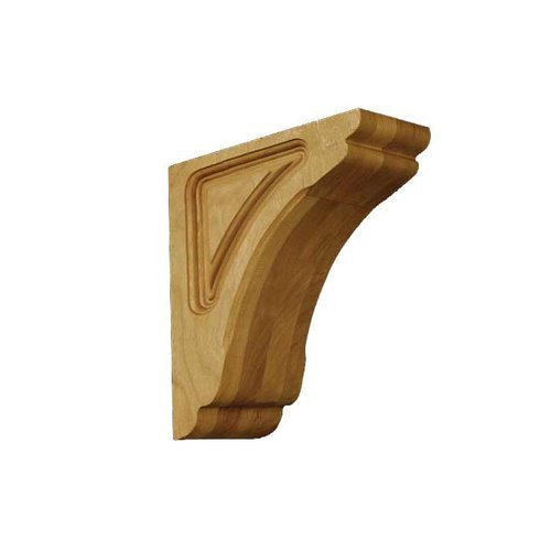 Brown Wood Small Cosmo Corbel Unfinished Hard Maple 01601010HM1