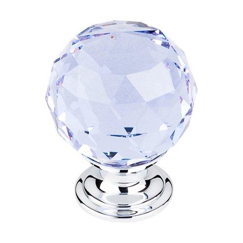 Top Knobs Crystal 1-3/8 Inch Diameter Light Blue Crystal Cabinet Knob TK114PC