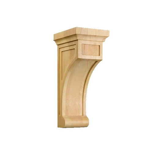 Brown Wood Medium Shaker Corbel Unfinished Hard Maple 01606001HM1