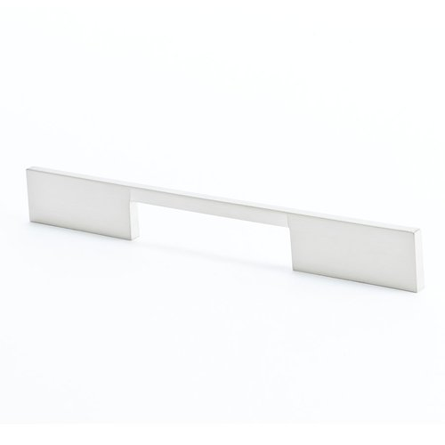 R. Christensen I-Spazio 7-9/16 Inch Center to Center Brushed Nickel Cabinet Pull 9296-1BPN-C