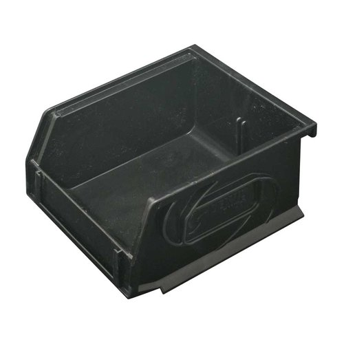 "Hafele Omni Track Storage Bin 4-1/4"" X 5-1/4"" X 3"" Black Plastic 792.02.380"