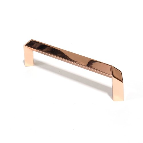 Century Hardware Venus 5-1/16 Inch Center to Center Polished Rose Gold Cabinet Pull 24258-RG