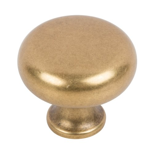 Atlas Homewares Successi Knob 1-1/4 inch Diameter Vintage Brass A819-UB