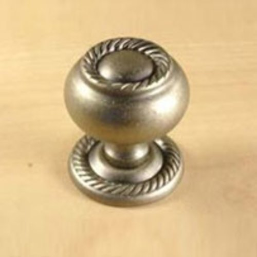 Saturn 1-1/4 Inch Diameter Aged Pewter Cabinet Knob <small>(#15056-AP)</small>