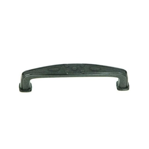 Stone Mill Hardware Milan 3-3/4 Inch Center to Center Antique Black Cabinet Pull CP81094-BA
