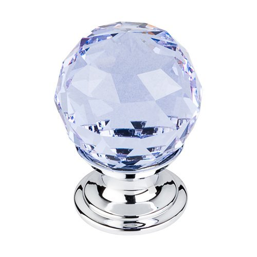 Top Knobs Crystal 1-1/8 Inch Diameter Light Blue Crystal Cabinet Knob TK113PC