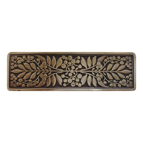 English Garden 3 Inch Center to Center Antique Brass Cabinet Pull <small>(#NHP-679-AB)</small>