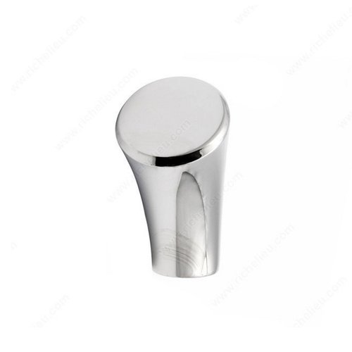 Richelieu Abstract 13/16 Inch Diameter Chrome Cabinet Knob 5183020140