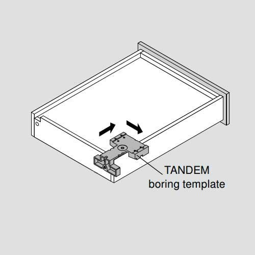 Blum Universal Tandem Installation Template For Locking Devices T65.1600.01