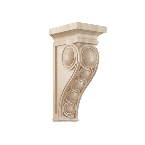 Brown Wood Large Infinity Corbel Unfinished Hard Maple 01601437HM1