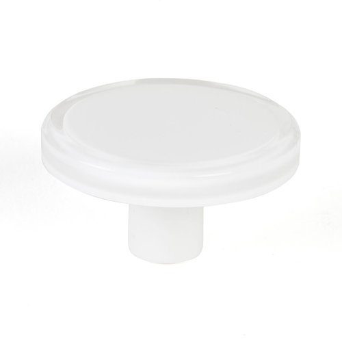 Next 2 Inch Diameter White Transparent Cabinet Knob <small>(#9781-7000-P)</small>