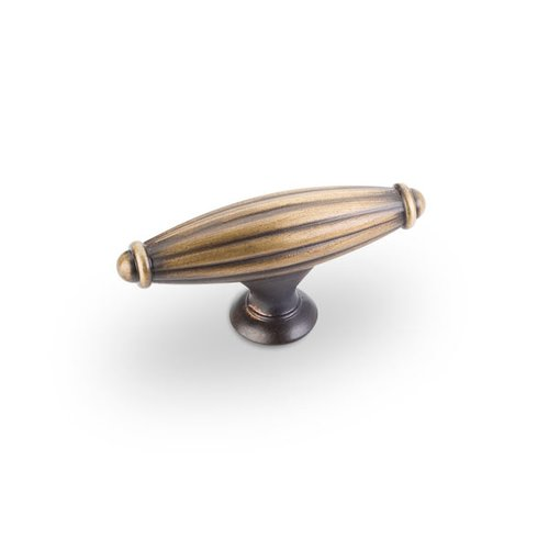 Glenmore 2-5/8 Inch Diameter Antique Brushed Satin Brass Cabinet Knob <small>(#618ABSB)</small>