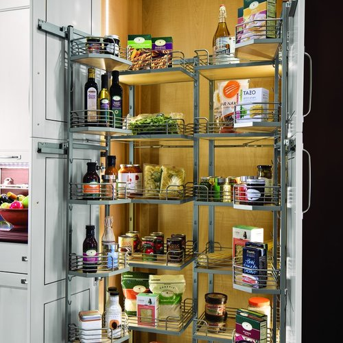 """Kessebohmer 67"""" Tall Tandem Chefs Pantry Frame 15"""" W Champagne 546.64.821"""