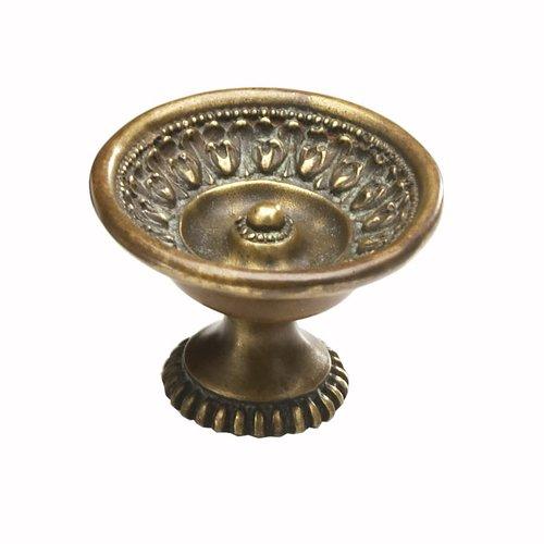 Schaub and Company Chalice 1-9/16 Inch Diameter Monticello Brass Cabinet Knob 931 MBR