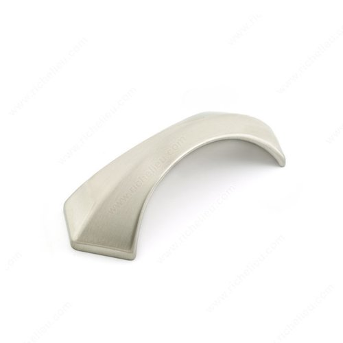 Richelieu Honeycomb 3-3/4 Inch Center to Center Brushed Nickel Cabinet Pull 5078110195
