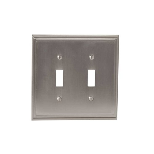 Amerock Mulholland Two Toggle Wall Plate Satin Nickel BP36515G10