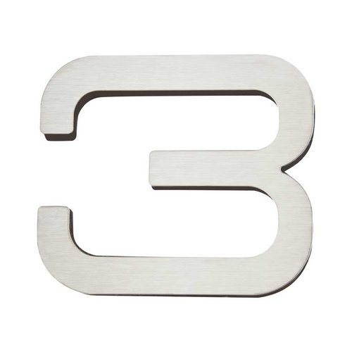 Atlas Homewares Paragon House Number Three Stainless Steel PGN3-SS