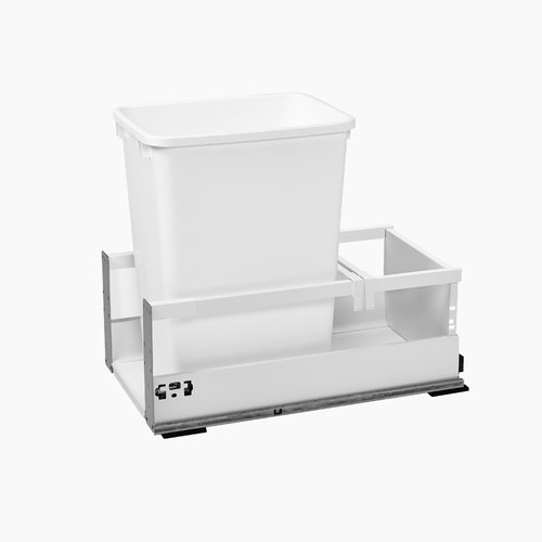 "TWCSC Single Trash Pullout For 15"" Cabinet 35 Quart White <small>(#TWCSC-15DM1)</small>"