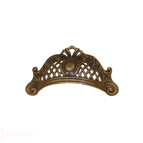 Richelieu Art Deco 2-1/2 Inch Center to Center Oxidized Brass Cabinet Cup Pull 15133163