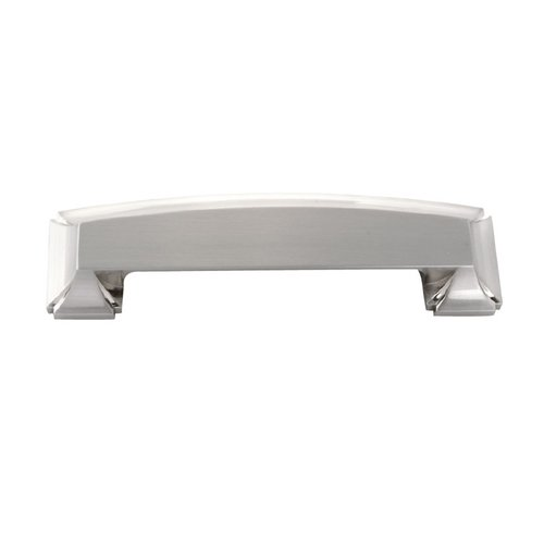 Bridges 3-3/4 Inch Center to Center Satin Nickel Cabinet Cup Pull <small>(#P3234-SN)</small>