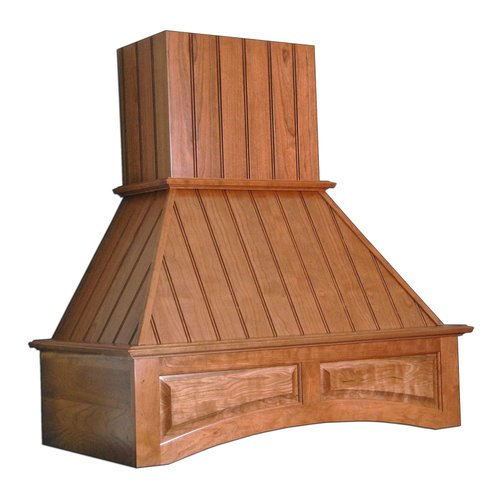 """Omega National Products 42"""" Wide Arched Nantucket Range Hood-Hickory R2442SMB1HUF1"""