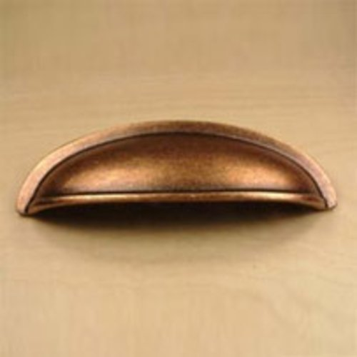 Century Hardware Hartford 3 Inch Center to Center Aged Copper Cabinet Cup Pull 13543-AC