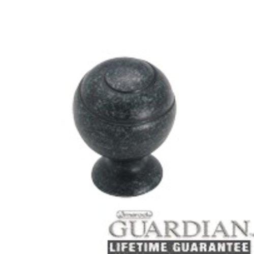 Amerock Swirl'Z 1-1/8 Inch Diameter Wrought Iron Dark Cabinet Knob BP9338WID