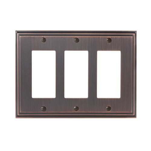 Mulholland Three Rocker Wall Plate Oil Rubbed Bronze <small>(#BP36520ORB)</small>