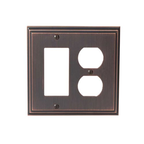 Amerock Mulholland One Rocker, 1 Receptacle Wall Plate Oil Rubbed Br BP36525ORB