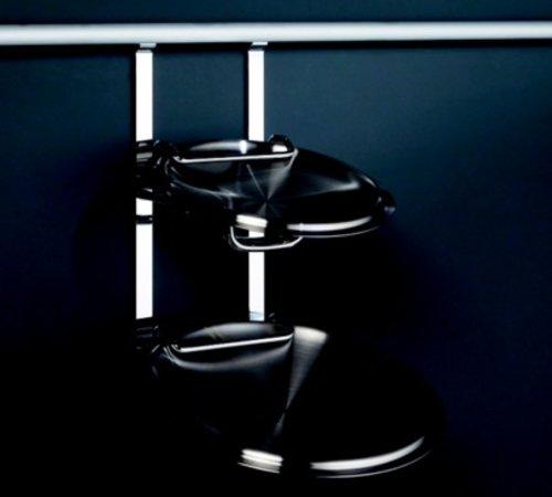 Kessebohmer Lid Holder For Backsplash Rail System Stainless Look 521.61.630