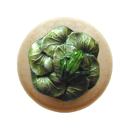 Notting Hill All Creatures 1-1/2 Inch Diameter Pewter Hand Tinted Cabinet Knob NHW-709N-PHT