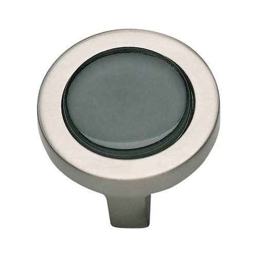 Atlas Homewares Spa 1-1/4 Inch Diameter Brushed Nickel Cabinet Knob 229-BLK-BRN