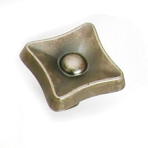 Flair 1-1/4 Inch Diameter Antique Pewter Cabinet Knob <small>(#38606)</small>