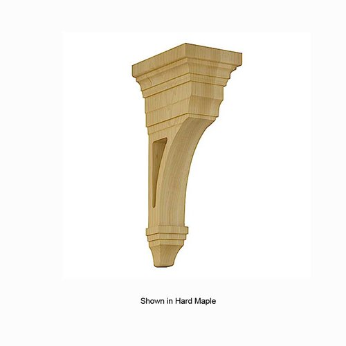 Brown Wood Arts and Crafts Open Corbel Unfinished Red Oak 01607013AK1