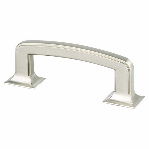 Berenson Hearthstone 3 Inch Center to Center Brushed Nickel Cabinet Pull 4064-1BPN-P
