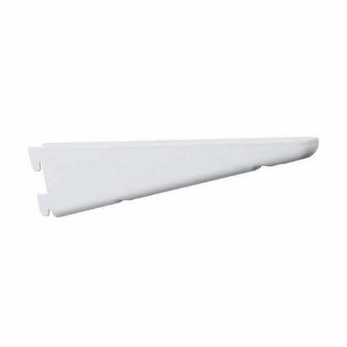 "Knape and Vogt KV #182 Steel Bracket 7"" - White 182 WH 7"