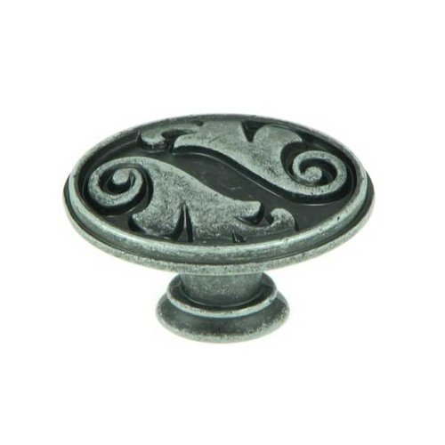 Stone Mill Hardware Meadow Brook 1-1/2 Inch Diameter Swedish Iron Cabinet Knob CP81097-SI