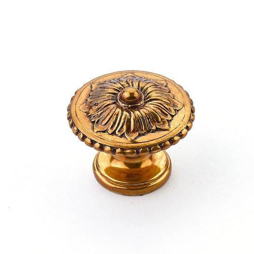 Schaub and Company Sonata 1-1/4 Inch Diameter Paris Brass Cabinet Knob 930-PAR