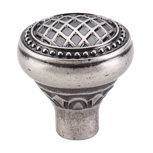 Top Knobs Trevi Fountain 1-5/16 Inch Diameter Pewter Antique Cabinet Knob TK173PTA