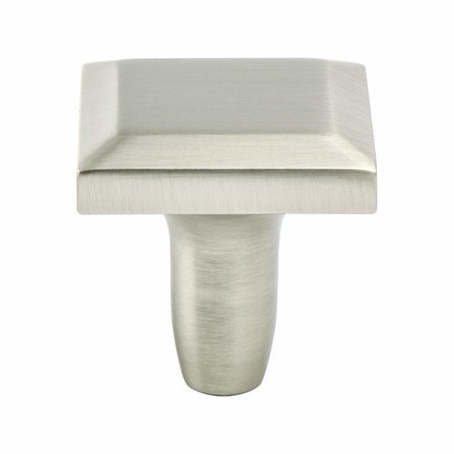 Metro 1-3/16 Inch Diameter Brushed Nickel Cabinet Knob <small>(#4122-1BPN-P)</small>